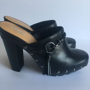 "COACH "" Rana "" Studded Clogs Slides Heels"